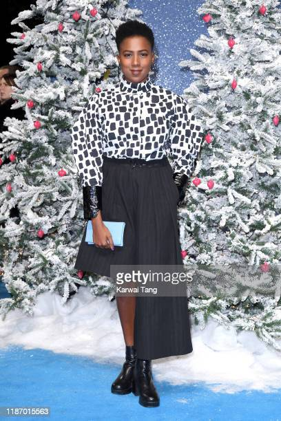 Jade Anouka attends the Last Christmas UK Premiere at BFI Southbank on November 11 2019 in London England
