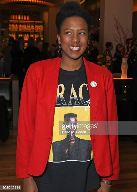 """Jade Anouka attends the press night after party for The Old Vic's production of """"Fanny & Alexander"""" at The Skylon on March 1, 2018 in London, England."""