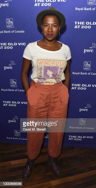 "Jade Anouka attends the press night after party of ""A Monster Calls"" at The Old Vic Theatre on July 17, 2018 in London, England."