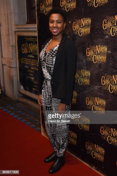 Jade Anouka attends the West End opening of Bob Dylan and Conor McPherson's Girl from the North Country at Noel Coward Theatre on January 11, 2018 in...
