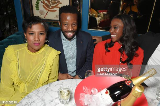 Jade Anouka Clifford Samuel and guest attend the InStyle EE Rising Star Party at Granary Square on February 6 2018 in London England