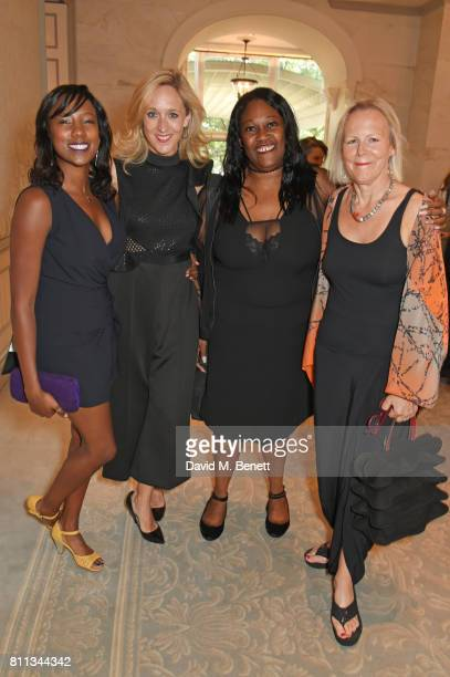Jade Anouka, Kate Pakenham, Jennifer Joseph and Phyllida Lloyd attend The South Bank Sky Arts Awards drinks reception at The Savoy Hotel on July 9,...