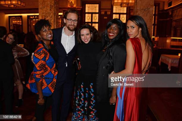 "Jade Anouka, Tom Hiddleston, Kate O'Flynn, Claire Mills and Zawe Ashton attend an after party for ""Happy Birthday, Harold"", a charity gala..."