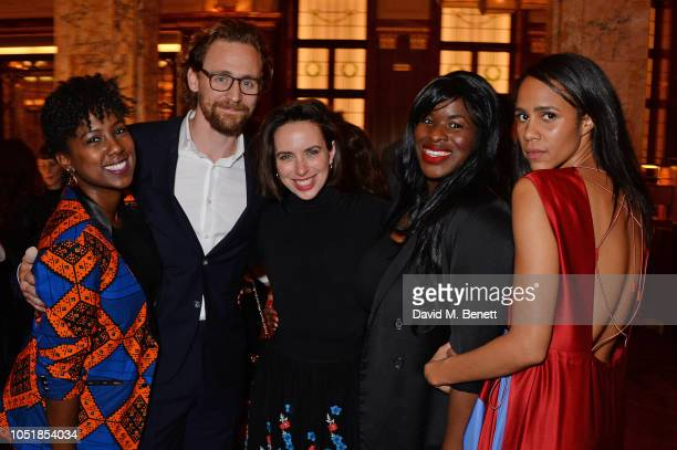 """Jade Anouka, Tom Hiddleston, Kate O'Flynn, Claire Mills and Zawe Ashton attend an after party for """"Happy Birthday, Harold"""", a charity gala..."""