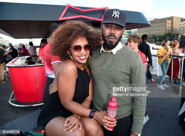 Jade Avia and guest on board the Bud Boat for their launch party hosted by Budweiser the Official Beer of the 2018 FIFA World Cup on June 14 2018 in...