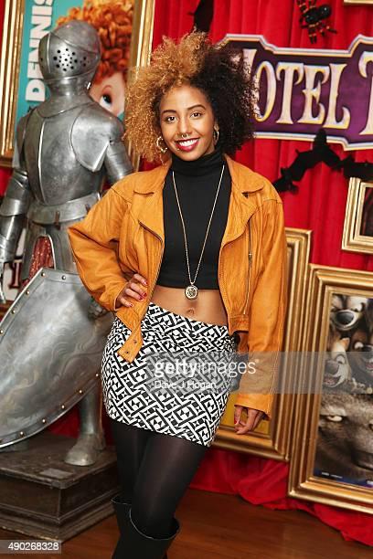 Jade Avia attends the Hotel Transylvania 2 Tea Party and Gala Screening at The Soho Hotel on September 27 2015 in London England