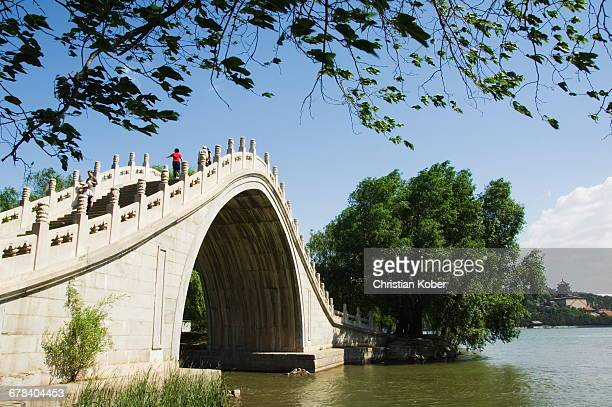 Jade Belt Bridge built during Emperor Qialongs reign in the 18th century, at Yihe Yuan (The Summer Palace), UNESCO World Heritage Site, Beijing, China, Asia