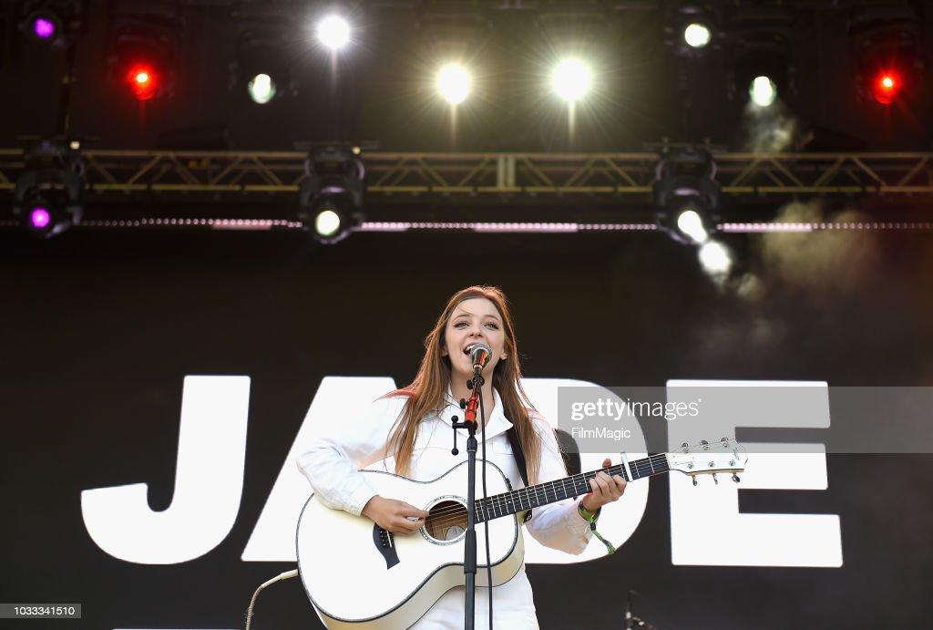 Jade Bird performs on the Scissor Stage during day 1 of Grandoozy on September 14, 2018 in Denver, Colorado.
