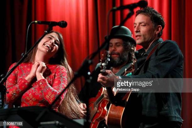 Jade Castrinos and Jakob Dylan perform at Reel To Reel Echo In The Canyon at The GRAMMY Museum on May 21 2019 in Los Angeles California