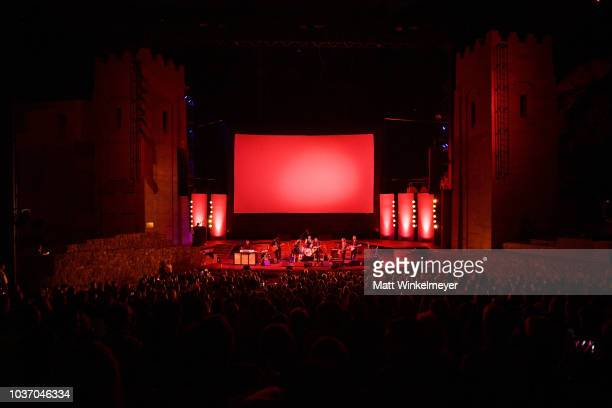 Jade Castrinos and Jakob Dylan perform during the 2018 LA Film Festival opening night premiere of Echo In The Canyon at John Anson Ford Amphitheatre...