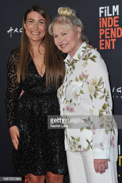 Jade Castrinos and Michelle Phillips arrive at the 2018 LA Film Festival opening night premiere of Echo In The Canyon at John Anson Ford Amphitheatre...