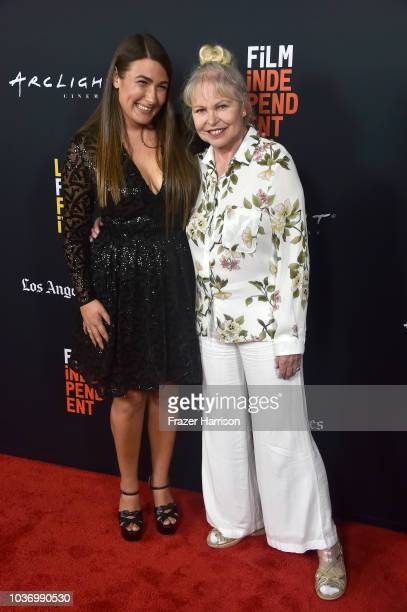 Jade Castrinos and Michelle Phillips attend the 2018 LA Film Festival Opening Night Premiere Of Echo In The Canyon at John Anson Ford Amphitheatre on...