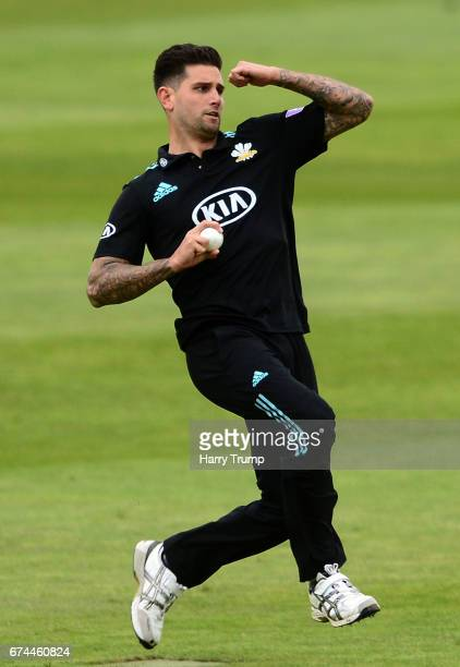 Jade Dernbach of Surrey during the Royal London OneDay Cup between Somerset and Surrey at The Cooper Associates County Ground on April 28 2017 in...
