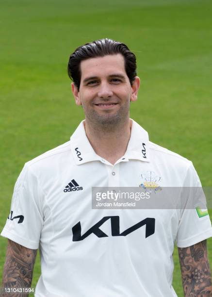 Jade Dernbach of Surrey during the Surrey CCC Photocall at The Kia Oval on April 01, 2021 in London, England.