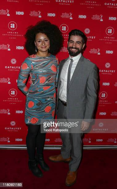 Jade Doherty and Fred Salgin attend the Catalyst Content Awards Gala on October 13 2019 in Duluth Minnesota
