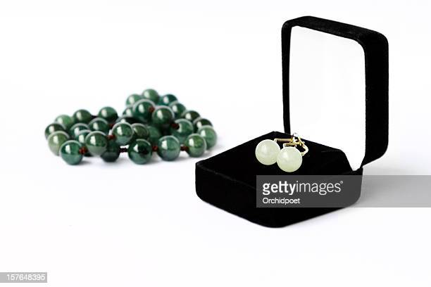 Jade Earrings and Necklace