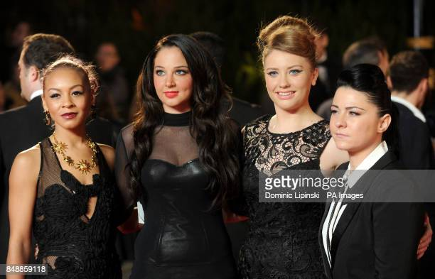 Jade Ellis Tulisa Contostavlos Ella Henderson and Lucy Spraggan arrive at the Royal World premiere of Skyfall at the Royal Albert Hall London