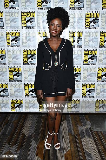 Jade Eshete attends the Dirk Gently press line at Comic-Con International 2016 - Day 3 on July 23, 2016 in San Diego, California.