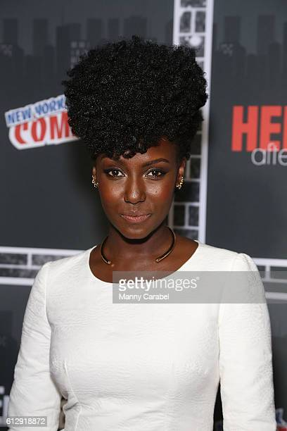 Jade Eshete attends the Heroes After Dark New York Comic Con KickOff Red Carpet Celebration at Highline Ballroom on October 5 2016 in New York City