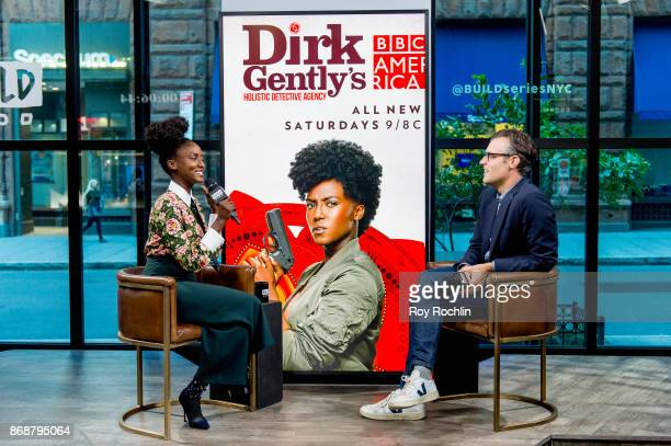 Jade Eshete discusses Dirk Gently's Holistic Detective Agency with the Build Series at Build Studio on October 31 2017 in New York City