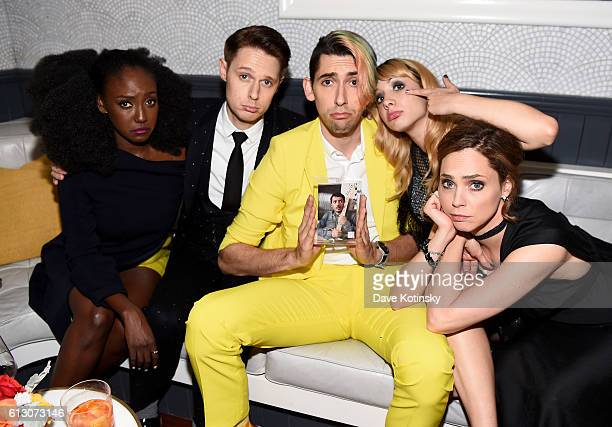 Jade Eshete Samuel Barnett Max Landis and Hannah Marks and Fiona Dourif attend EW Hosts An Evening With BBC America on October 6 2016 in New York City