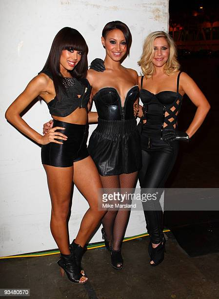 Jade Ewen Amelle Berrabah and Heidi Range of the Sugababes attend the T4 Star of 2009 concert at Earls Court on November 29 2009 in London England