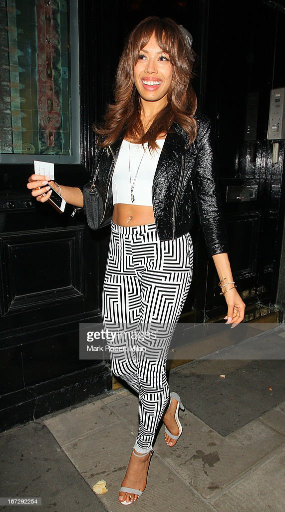 Jade Ewen at the Crazy Bear club on April 23, 2013 in London, England.