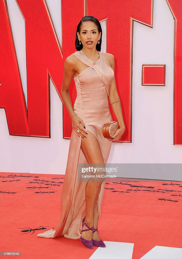 Jade Ewen attends the European Premiere of Marvel's 'Ant-Man' at Odeon Leicester Square on July 8, 2015 in London, England.