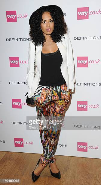 Jade Ewen attends the launch party of verycouk's Definiteations range at Somerset House on September 4 2013 in London England