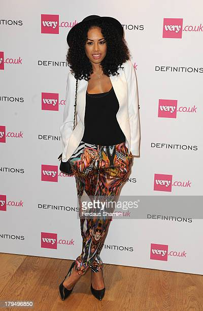 Jade Ewen attends the launch party of verycouk's Definitions range at Somerset House on September 4 2013 in London England