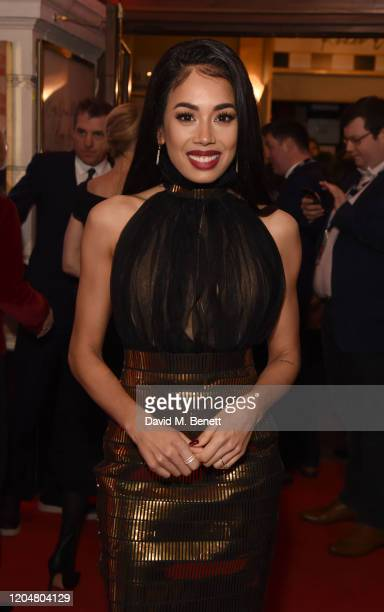 """Jade Ewen attends the press night performance of """"Pretty Woman"""" at the Piccadilly Theatre on March 2, 2020 in London, England."""