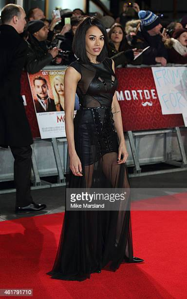 Jade Ewen attends the UK Premiere of Mortdecai at Empire Leicester Square on January 19 2015 in London England