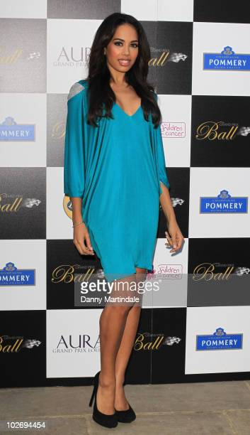 Jade Ewen of Sugababes attends The Grand Prix Ball at The Hurlingham Club on July 7 2010 in London England