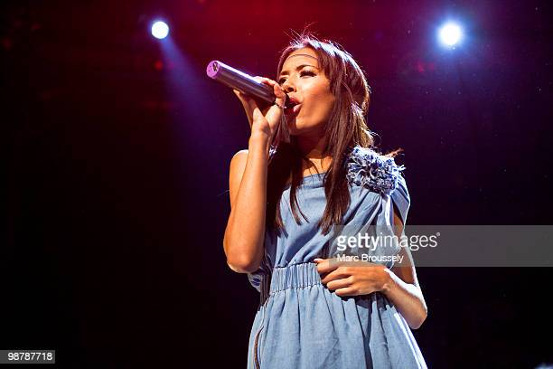 Jade Ewen of Sugababes performs at The Roundhouse during day one of The Camden Crawl on May 1 2010 in London England