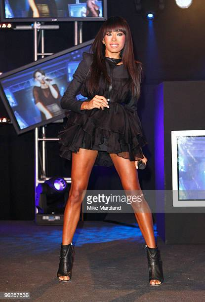 Jade Ewen of the Sugababes performs at the launch party for The Hilton Liverpool on January 28 2010 in Liverpool England