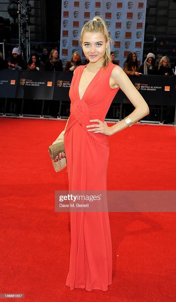 Jade Farmiloe arrives at the Orange British Academy Film Awards 2012 at The Royal Opera House on February 12, 2012 in London, England.