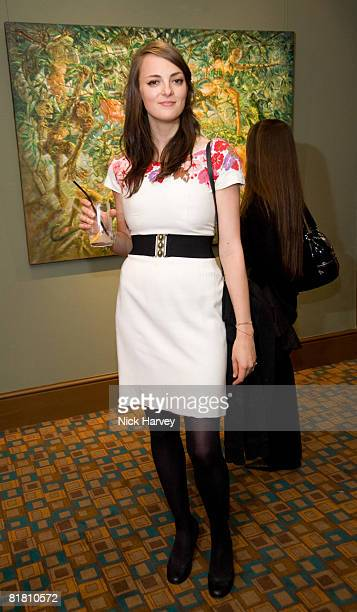 Jade Fenster attends the Sacha Newley 'Blessed Curse' exhibition private view at The Arts Club on July 2 2008 in London England