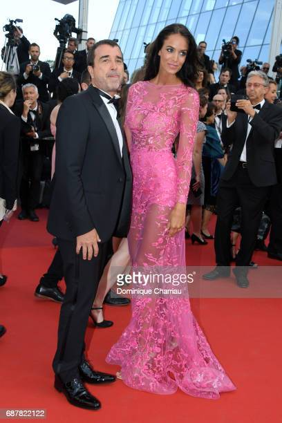 Jade Foret and Arnaud Lagardere attend 'The Beguiled' premiere during the 70th annual Cannes Film Festival at Palais des Festivals on May 24 2017 in...