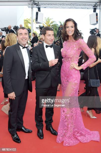 Jade Foret and Arnaud Lagardere attend The Beguiled premiere during the 70th annual Cannes Film Festival at Palais des Festivals on May 24 2017 in...