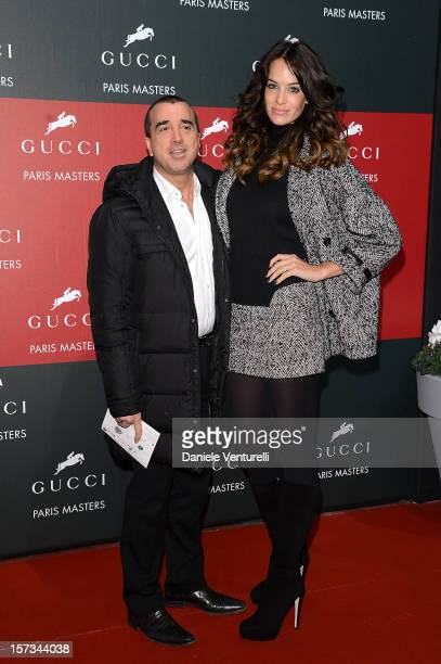 Jade Foret and Arnaud Lagardere attend the Gucci Paris Masters 2012 at Paris Nord Villepinte on December 2, 2012 in Paris, France.