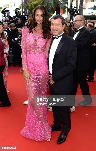 Jade Foret and Arnaud Lagardere attend the 'The Beguiled' screening during the 70th annual Cannes Film Festival at Palais des Festivals on May 24...