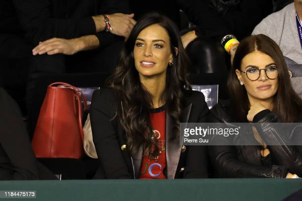 Jade Foret is seen supporting Benoit Paire at AccorHotels Arena Popb Paris Bercy on October 30, 2019 in Paris, France.