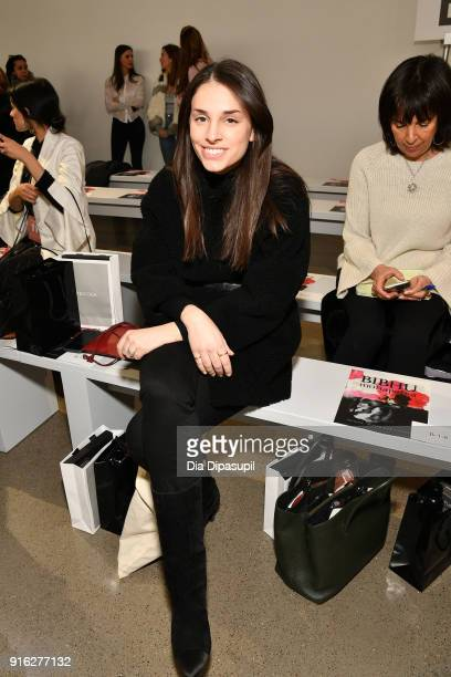 Jade Frampton attends the Bibhu Mohapatra front row during New York Fashion Week The Shows at Gallery II at Spring Studios on February 9 2018 in New...