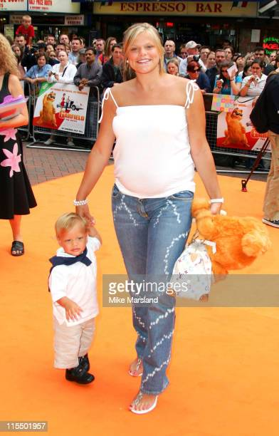"""Jade Goody and son Bobby Jack during The UK Charity Premiere Of """"Garfield the Movie"""" - Arrivals at Liecester Square Vue Cinema in London, Great..."""