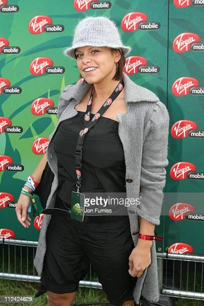 Jade Goody in the Virgin Mobile Louder Lounge at the V Festival