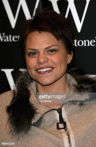 Jade Goody poses for photos before signing her new book Catch a Falling Star at Waterstones in Lakeside Shopping Centre on December 07 2008...