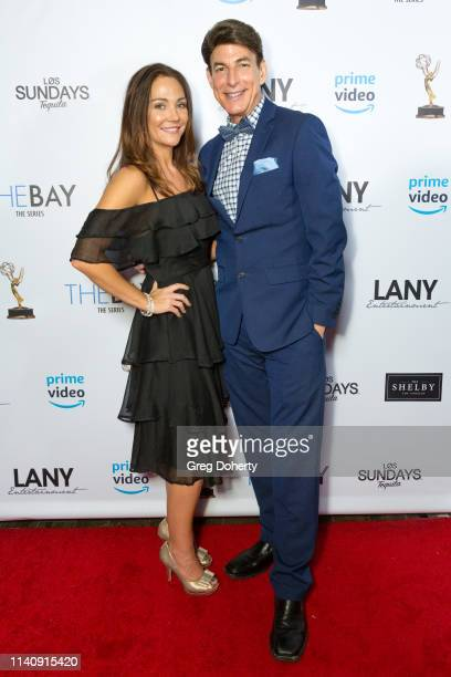 Jade Harlow and Bj Korros attends The Bay The Series PreEmmy Red Carpet Celebration at The Shelby on May 2 2019 in Los Angeles California