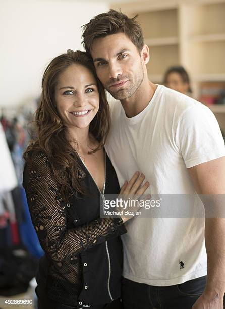 Jade Harlow and Erik Fellows at The Bay The Series New Intro Promotional Shoot on October 15 2015 in Los Angeles California