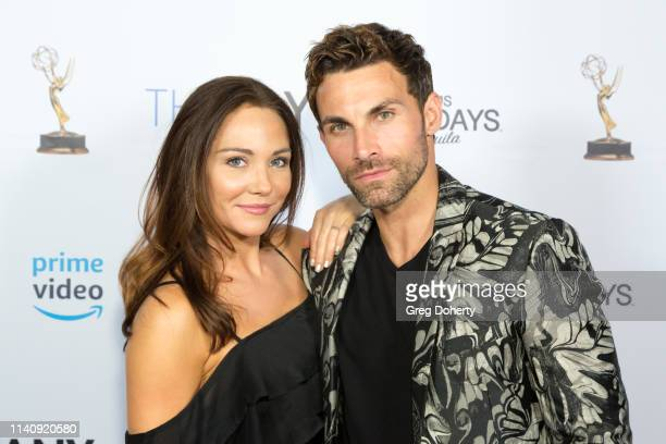 Jade Harlow and Erik Fellows attend The Bay The Series PreEmmy Red Carpet Celebration at The Shelby on May 2 2019 in Los Angeles California