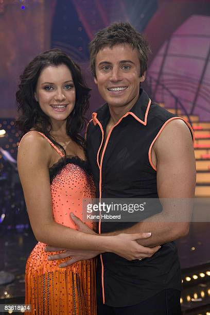 Jade Hatcher and James Tobin at the grand final event for Dancing With The Stars 2008 at the Channel Seven studios on November 8 2008 in Melbourne...